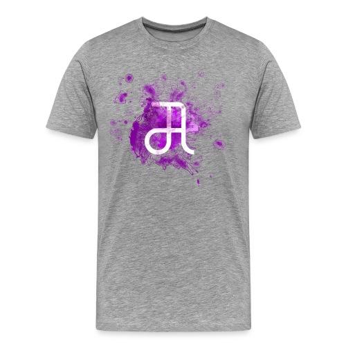 Glyphe Lila ♂ - Männer Premium T-Shirt