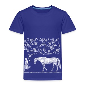 Mädchen und Pferd - Kinder Premium T-Shirt
