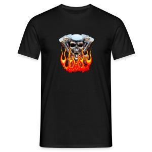 Skull  Flaming  - T-shirt Homme