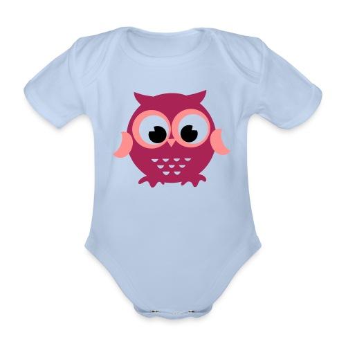 Eulen Baby Body - Baby Bio-Kurzarm-Body