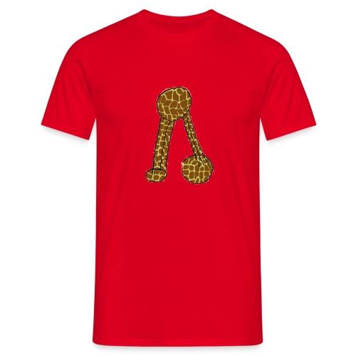 T-Shirt para senhora com não se aguenta em padrão de girafa - Men's T-Shirt
