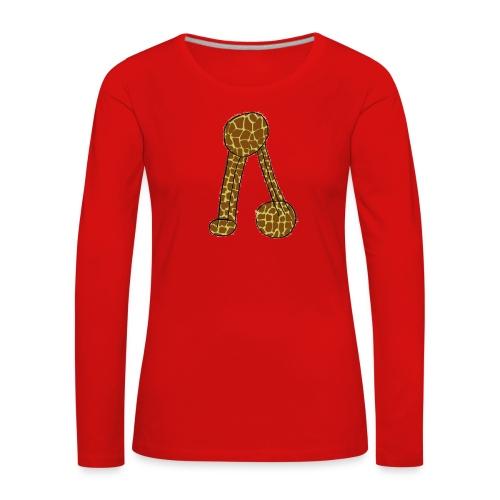 Camisola para senhora com não se aguenta em padrão de girafa - Women's Premium Longsleeve Shirt
