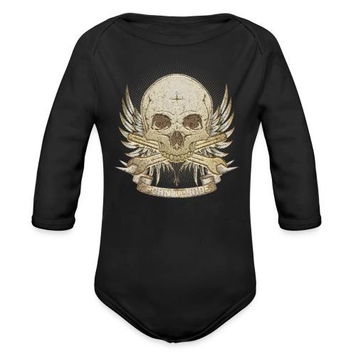 Born To Ride - Stone   Baby - Baby Bio-Langarm-Body