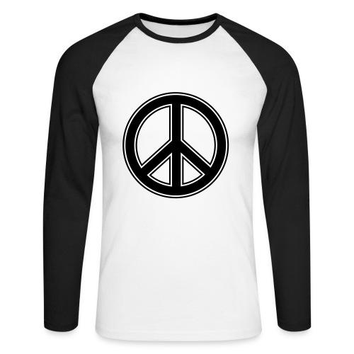 manche longue peace - T-shirt baseball manches longues Homme