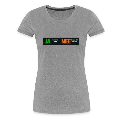 Ja, ik ben een meisje (dames-shirt) - Vrouwen Premium T-shirt
