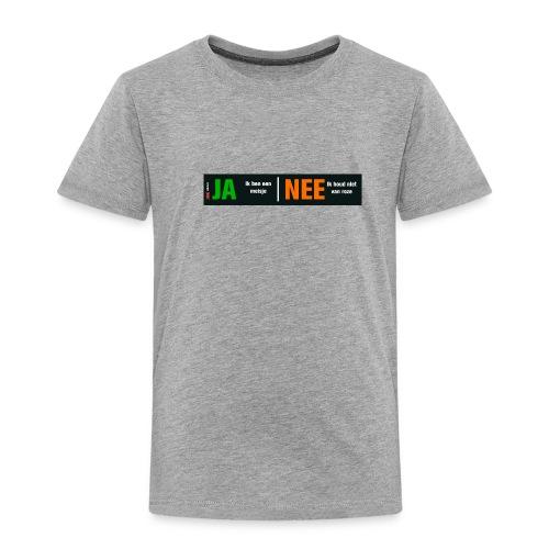 Ja, ik ben een meisje (kindershirt) - Kinderen Premium T-shirt
