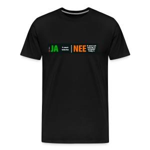 Ja, ik maak websites (herenshirt) - Mannen Premium T-shirt