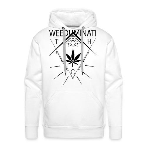 Sweat Weeduminati White  - Sweat-shirt à capuche Premium pour hommes