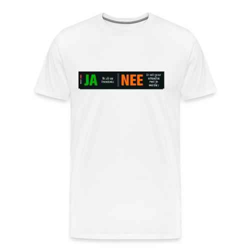 Ja, ik zit op Facebook (herenshirt) - Mannen Premium T-shirt
