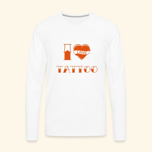 I love tattoo Old school - T-shirt manches longues Premium Homme