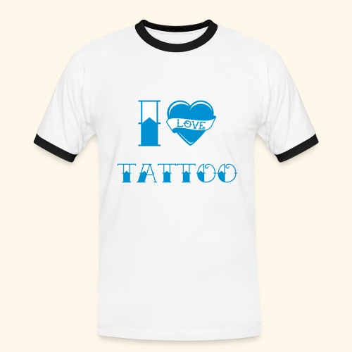 I love tattoo Old school - T-shirt contrasté Homme