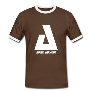 Brown & White Aired Airsoft T-Shirt - Men's Ringer Shirt