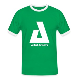 Green & White Aired Airsoft T-Shirt - Men's Ringer Shirt