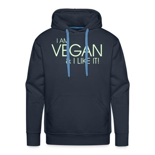 I am vegan and I like it - Männer Premium Hoodie
