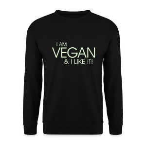 I am vegan and I like it - Männer Pullover