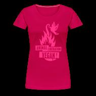 T-Shirts ~ Frauen Premium T-Shirt ~ Womens Shirt 'animal liberation vegan' POW