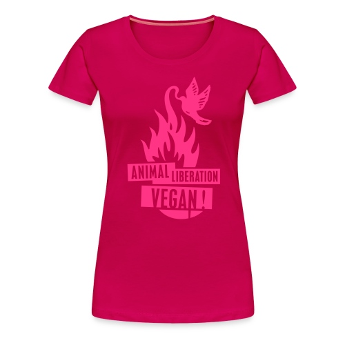 Womens Shirt 'animal liberation vegan' POW - Frauen Premium T-Shirt