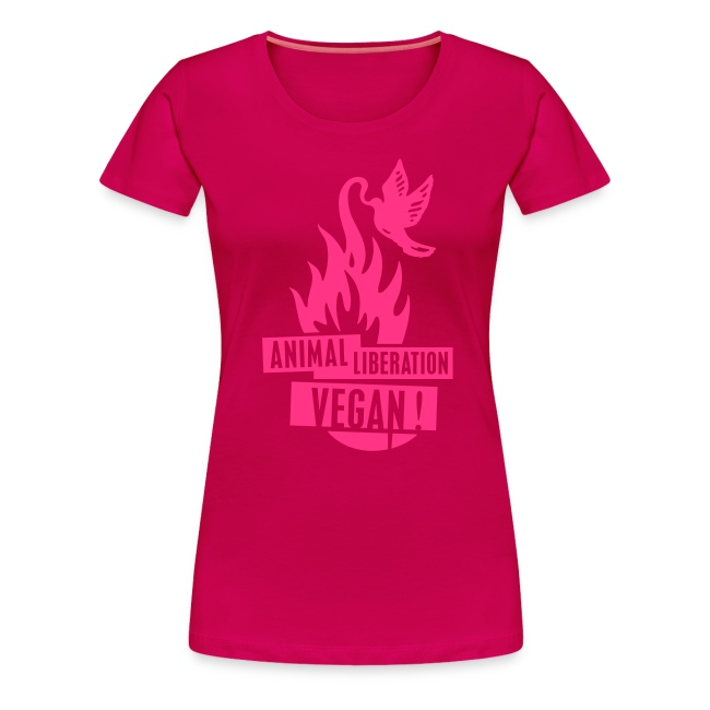 Womens Shirt 'animal liberation vegan' POW