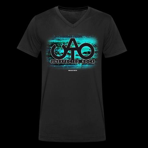 T-Shirt CATO 2seitig - Männer Bio-T-Shirt mit V-Ausschnitt von Stanley & Stella