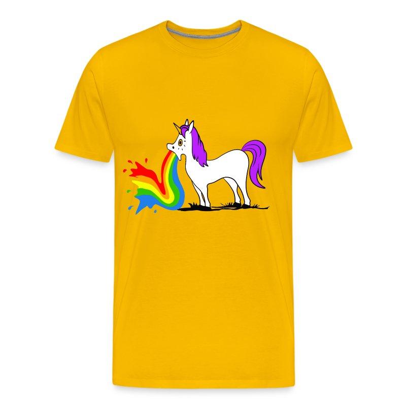 einhorn kotzt einen regenbogen t shirt spreadshirt. Black Bedroom Furniture Sets. Home Design Ideas