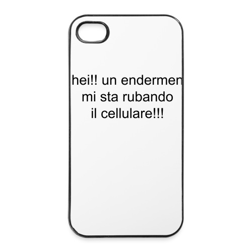 endermen fruga tutto - Custodia rigida per iPhone 4/4s