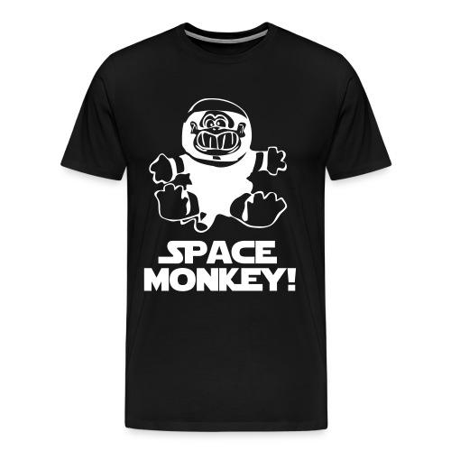 Space monkey Black/White - Herre premium T-shirt
