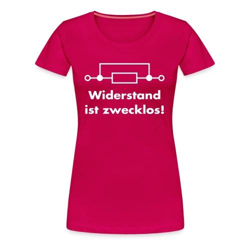 Widerstand pink - Frauen Premium T-Shirt