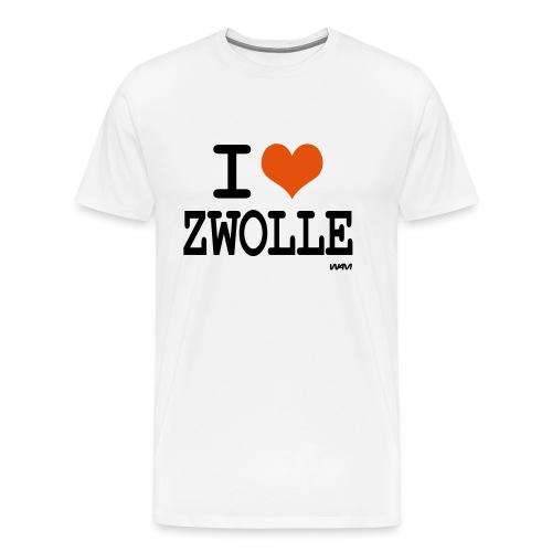 I lovw Zwolle - Mannen Premium T-shirt