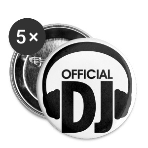 Official DJ - Buttons (5 Pcs.) - Buttons large 56 mm