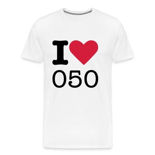 I love 050 - Mannen Premium T-shirt