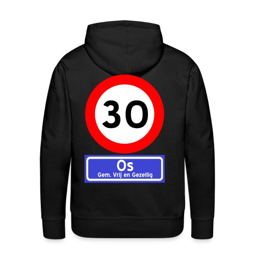 Ossenfeest sweater met capuchon 1 zwart - Mannen Premium hoodie