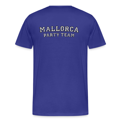 Mallorca Party Team T-Shirts (Herren Blau) Rücken - Männer Premium T-Shirt