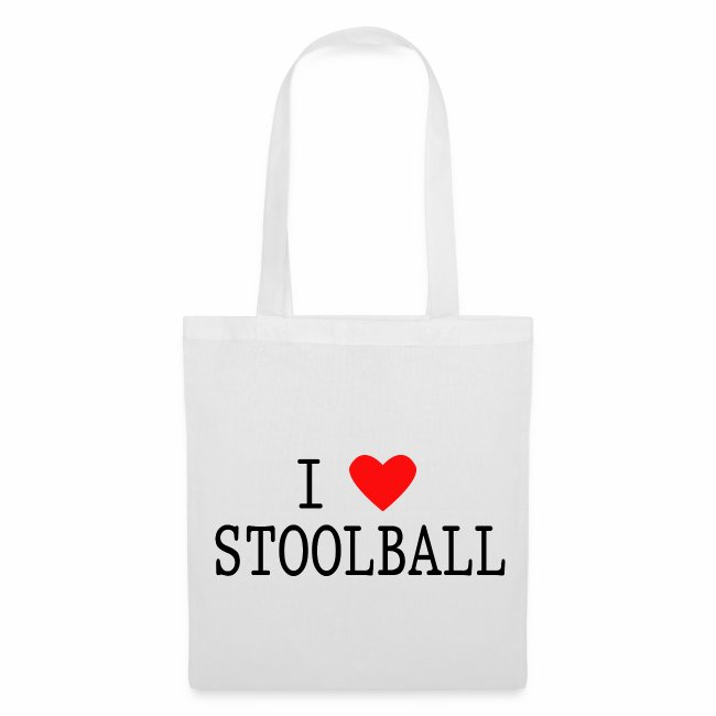 I Love Stoolball Tote Bag