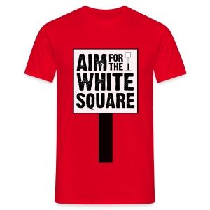 Aim For The White Square Men's T-Shirt - Men's T-Shirt