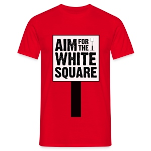 Aim For The White Square Men's T-Shirt - Men's T-Shirt