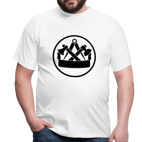 Zunftzeichen Zimmermann - Männer T-Shirt