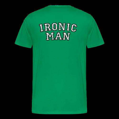 Ironic Man T-Shirt (Grün) Rücken - Männer Premium T-Shirt