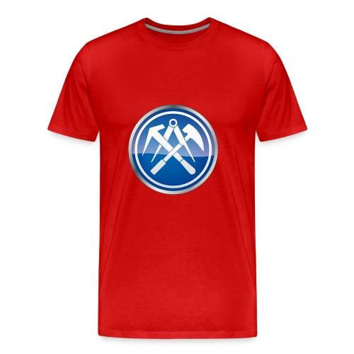 Premium T-Shirt mit Zunftzeichen Dachdecker, farbiger Druck - Männer Premium T-Shirt