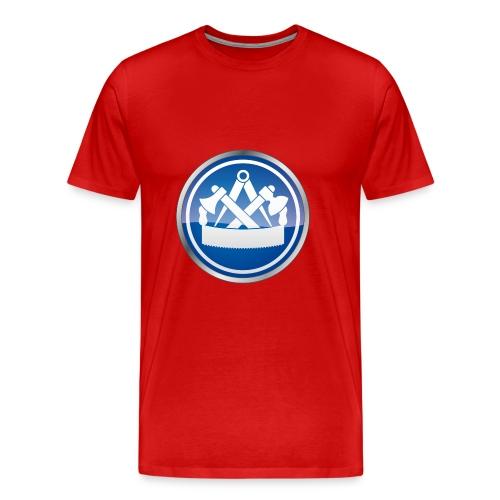 Premium T-Shirt mit Zunftzeichen Zimmermann, farbiger Druck - Männer Premium T-Shirt