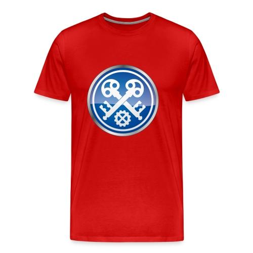 Premium T-Shirt mit Zunftzeichen der Schlosser, farbiger Druck - Männer Premium T-Shirt