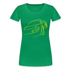 Sportwagen Speed Tribal - Frauen Premium T-Shirt