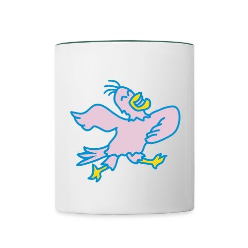 dancing bird mug - Contrasting Mug
