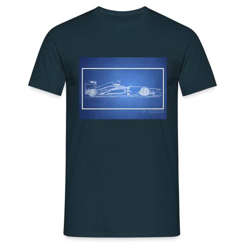 F1 Blueprint design 2 - Men's T-Shirt