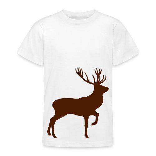 T-shirt ado blanc cerf entier - T-shirt Ado