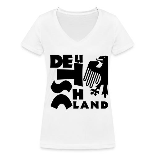 DEUtschLAND Frauen - Frauen Bio-T-Shirt mit V-Ausschnitt von Stanley & Stella