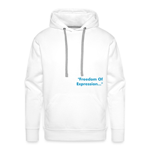 Freedom Of Expression White - Sweat-shirt à capuche Premium pour hommes