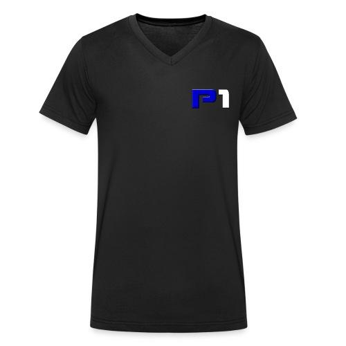 Logo vorne (links) & hinten - Männer Bio-T-Shirt mit V-Ausschnitt von Stanley & Stella