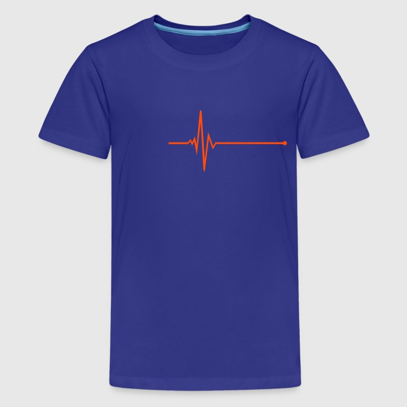 Pulse - frequency Shirts - Teenage Premium T-Shirt