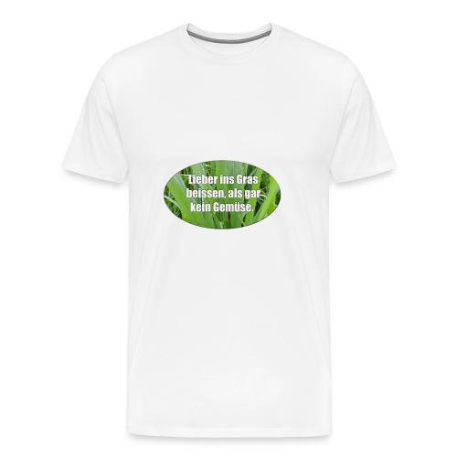 Für Vegetarier - Männer Premium T-Shirt