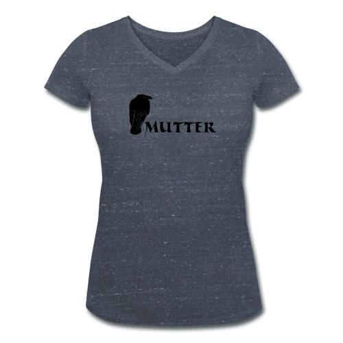 rabenmutter rabe mutter mama mami eltern gothic T-Shirts - Frauen Bio-T-Shirt mit V-Ausschnitt von Stanley & Stella